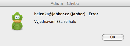 Chyba SSL jabber