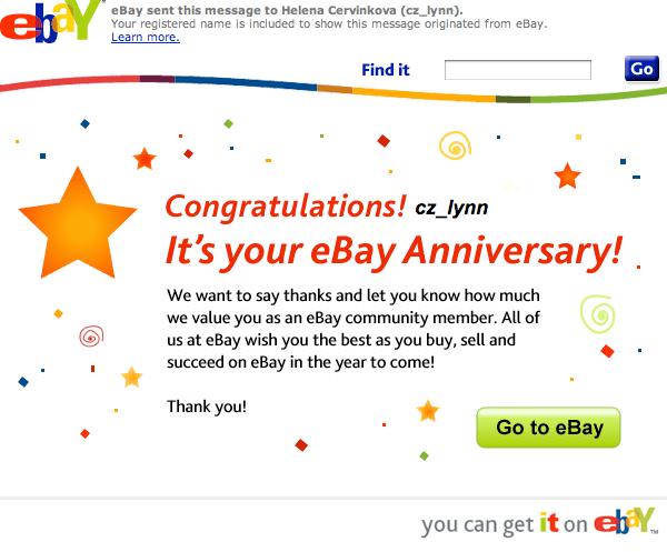 Výročí na ebay