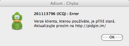 ICQ nefunguje